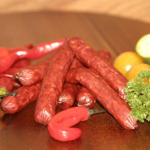 Swiss Deli Chilli SNACKIES are gourmet bite-size salami. Inspired by the finest European recipes, these miniature salami sausages burst with rich flavours.