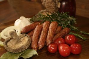 Truffle Snackies Swiss Deli are bite-size salami